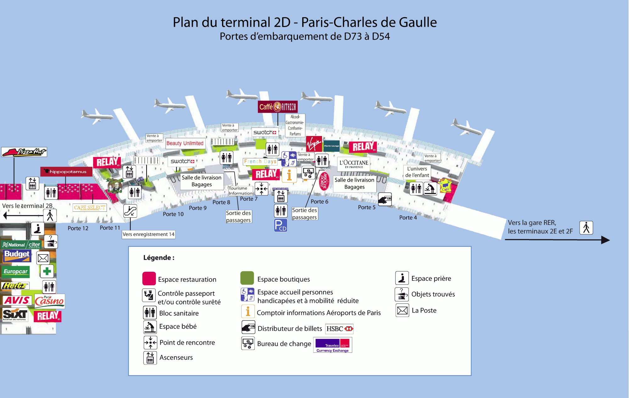 cdg terminal 2d map Roissy Charles De Gaulle Airport Cdg On Francetravellight Com cdg terminal 2d map