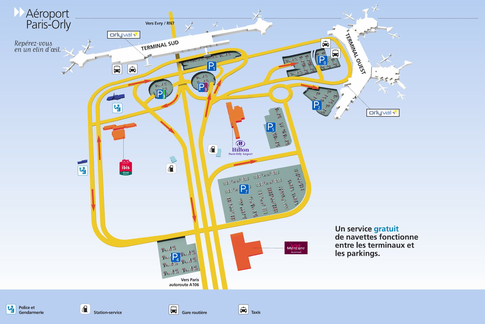 Aeroporto Orly : Orly airport on francetravellight.com