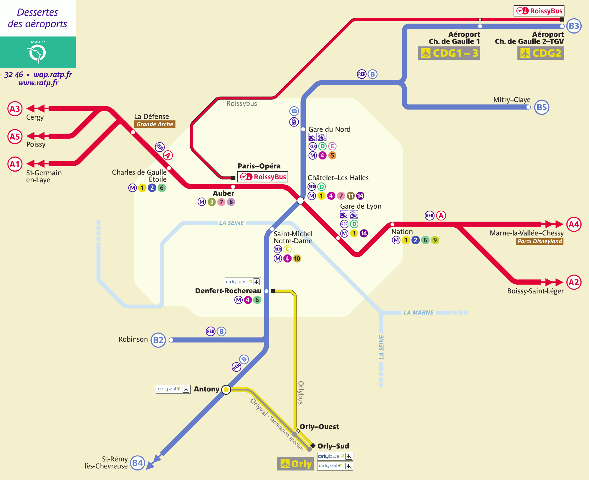 Paris Airports Transport Map